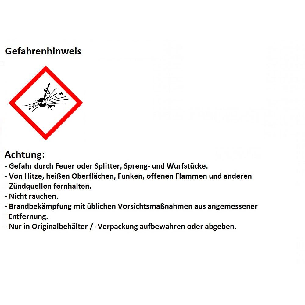 Warnhinweis Pyrotechnik