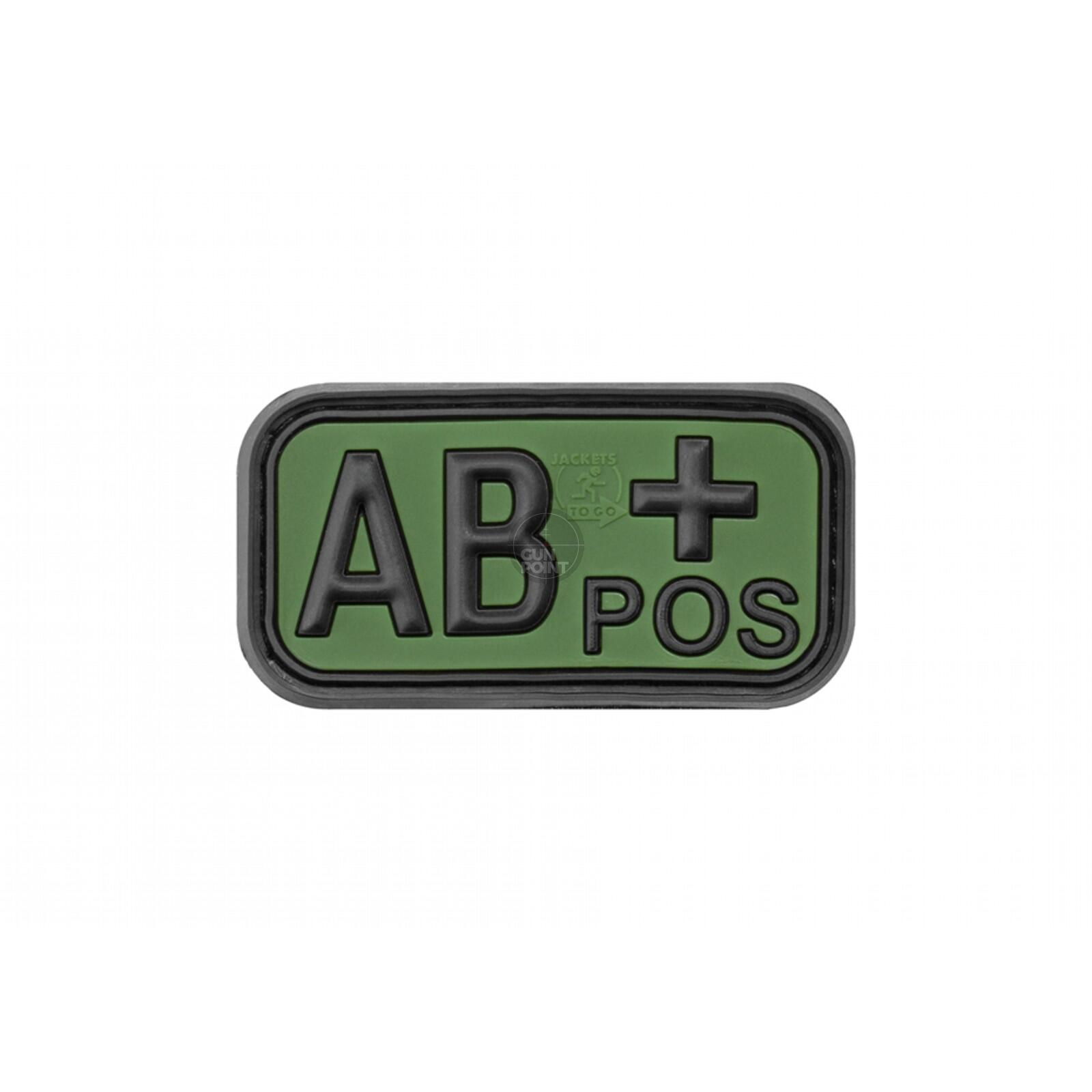 JTG Bloodtype Rubber Patch AB Pos Forest