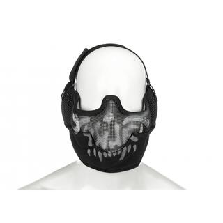 Invader Gear Steel Face Mask Death Head Schwarz