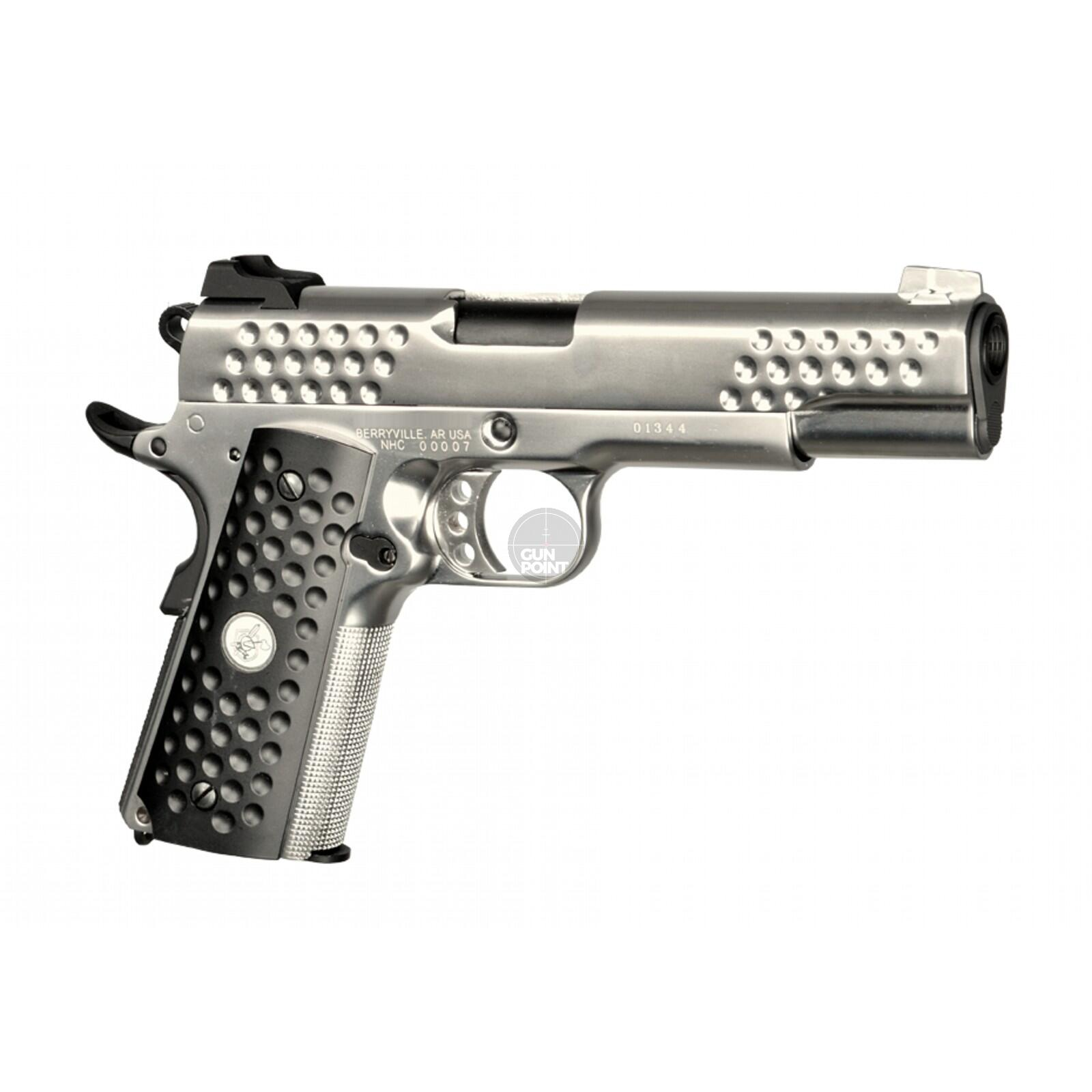 Softair - Pistole - WE - Knight Hawk Full Metal GBB silver - ab 18, über 0,5 Joule