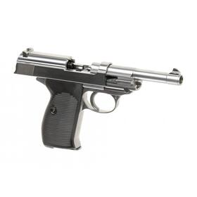 Softair - Pistole - WE - P38 Full Metal GBB silver - ab 18, über 0,5 Joule