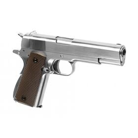Softair - Pistole - WE - M1911 Full Metal V3 GBB silver - ab 18, über 0,5 Joule