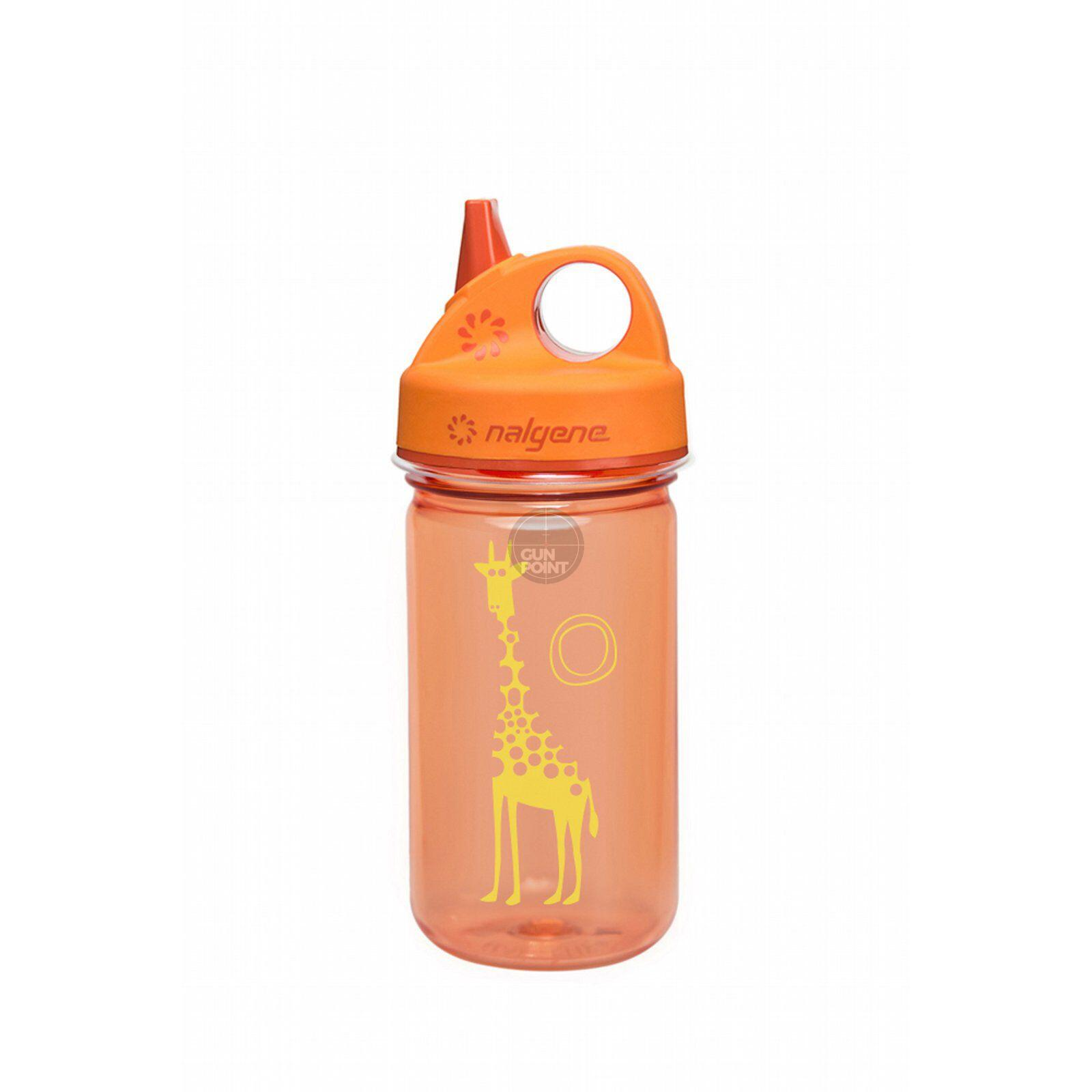 Nalgene Kinderflasche Grip-n-Gulp 0,35 L orange Giraffe