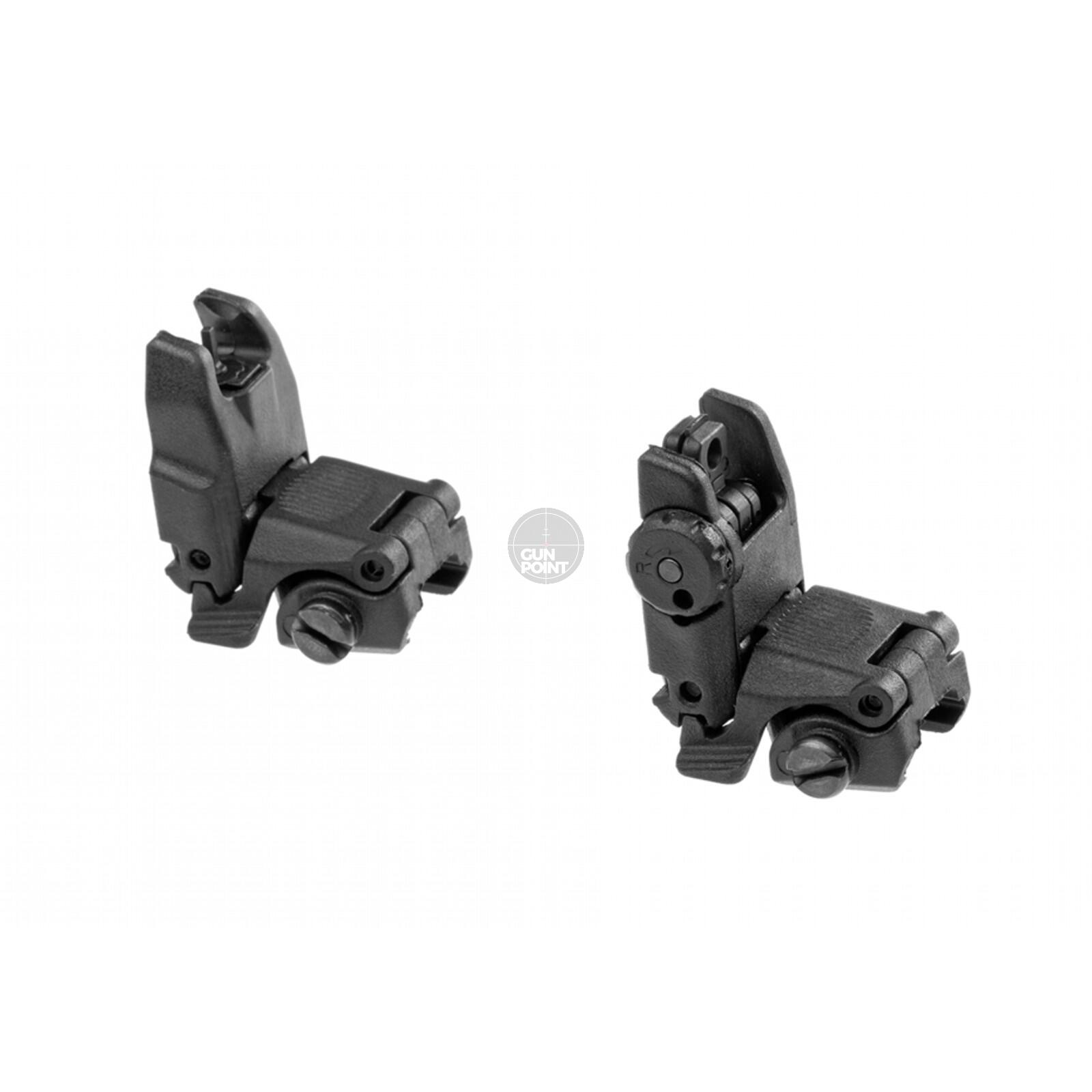 FBUS Flip Up Sight Set, bestehend aus Front und Rear Sight Black