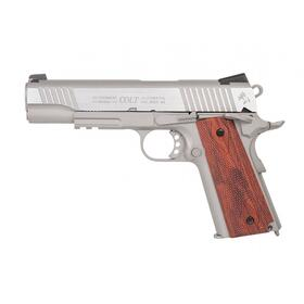 Softair - Pistole - Colt 1911 Railgun Stainless CO2 GBB -...