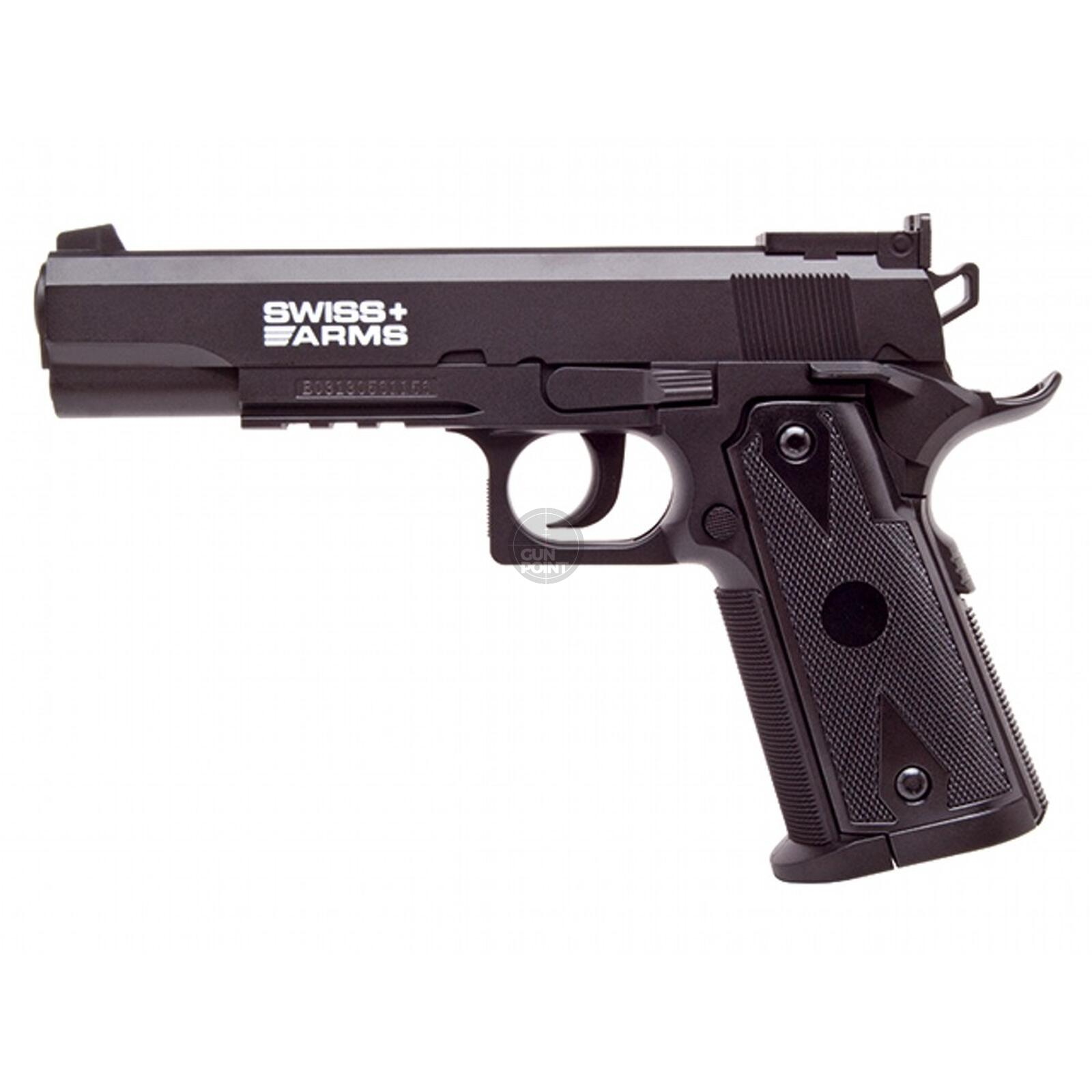 Luftpistole - Swiss Arms - P1911 Match - Co2-System NBB - Kal. 4,5 mm