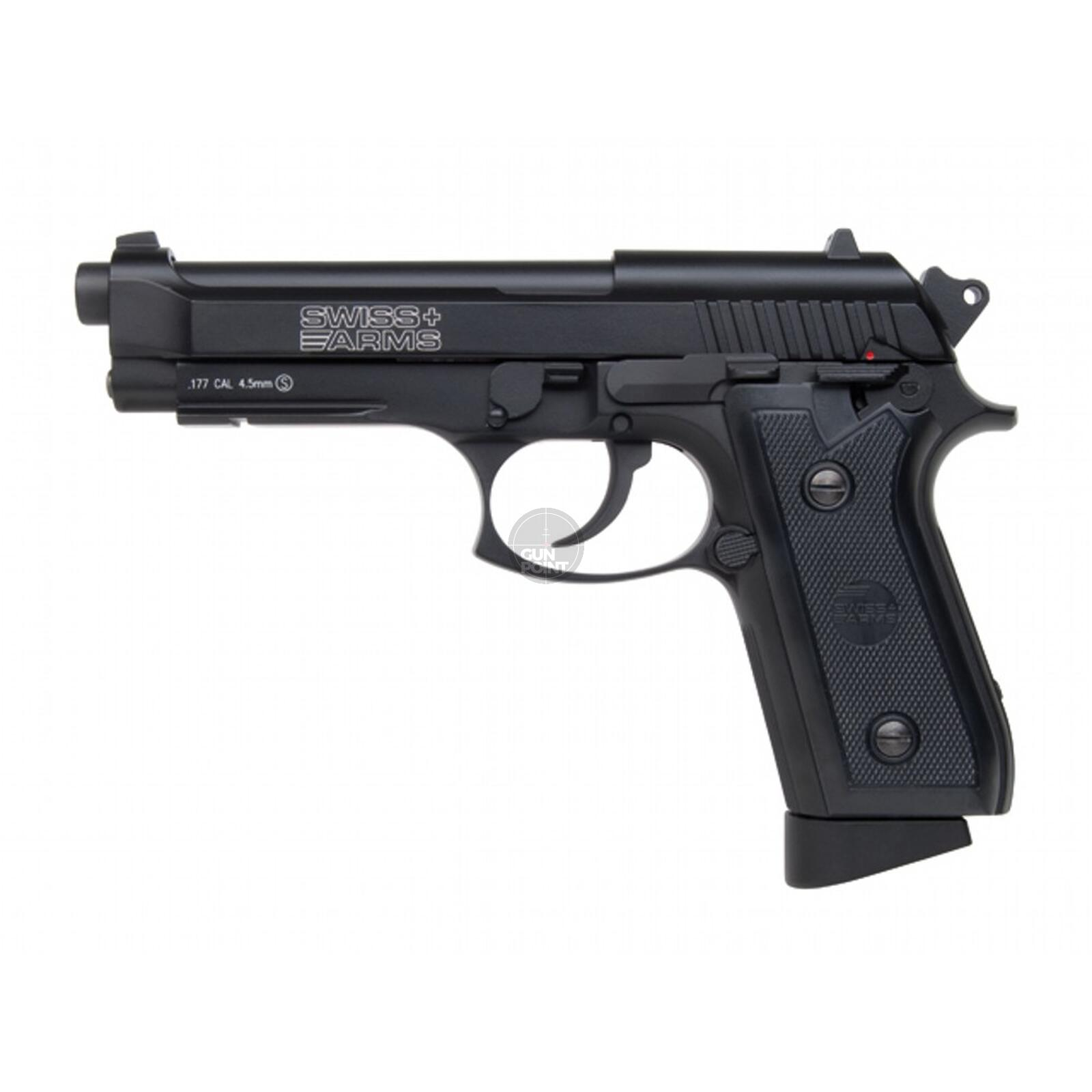 Luftpistole - Swiss Arms - P92 - Co2-System BlowBack - Kal. 4,5 mm