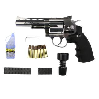 Softair - Revolver - DAN WESSON 4 CO2 NBB silber - ab 18, über 0,5 Joule