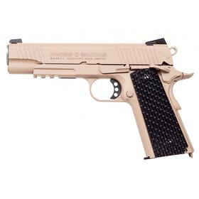 Luftpistole - Swiss Arms - P1911 - Co2-System BlowBack - Kal. 4,5 mm BB Military Rail Pistol
