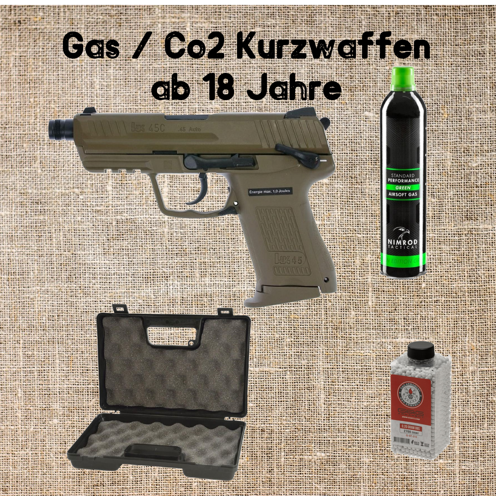Sets Gas / Co2 Kurzwaffen
