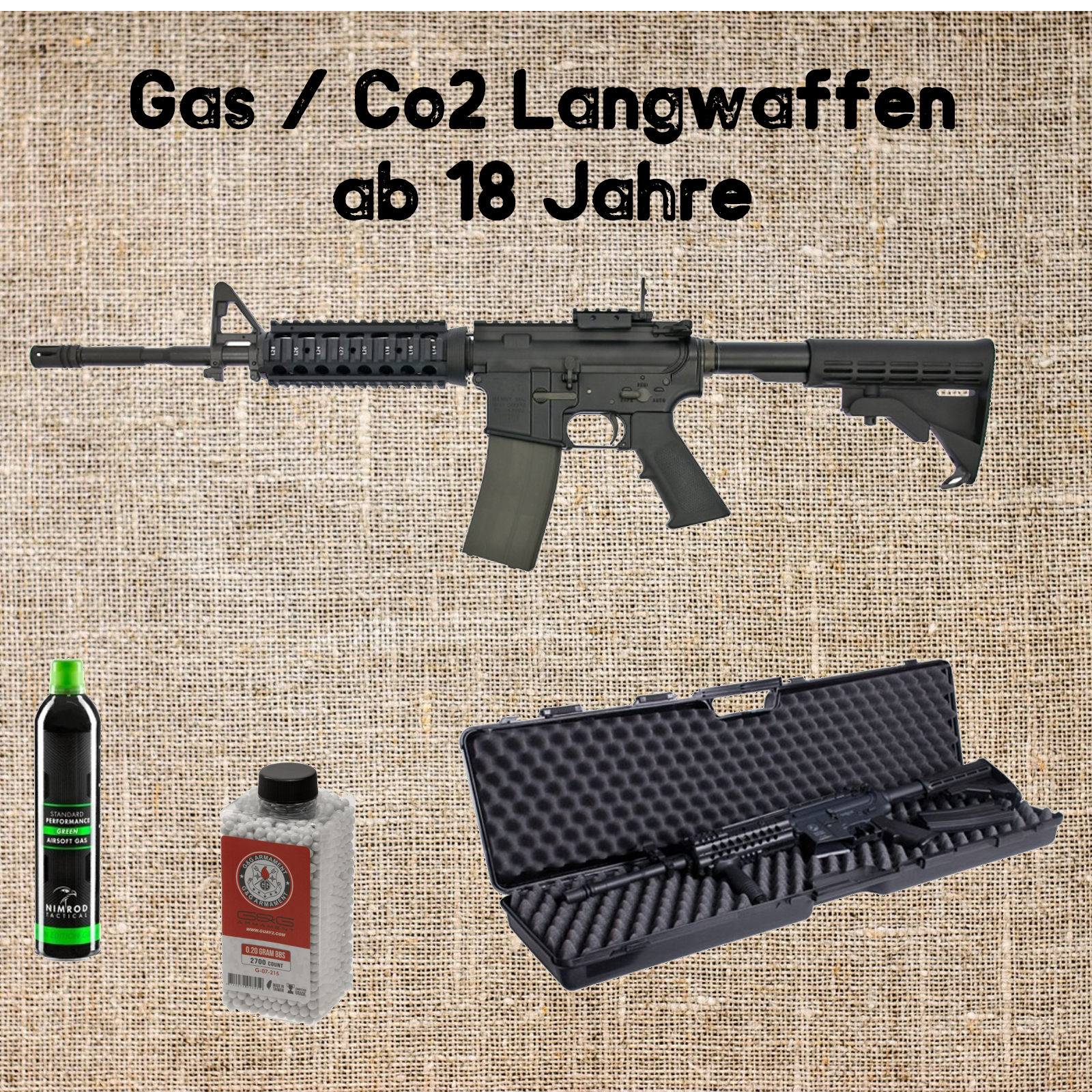 Sets Gas / Co2 Langwaffen